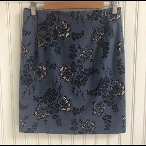 Boden Stretch Skirt in Pale Indigo